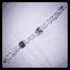 Jewelry - Vintage acrylic and silver bracelet